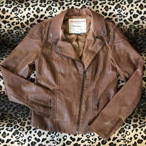 Anthropologie Vegan Leather Motorcycle Jacket